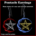 Knotted Moon Pentacle Earrings with Material Change Menu (Wiccan, Wicca, Pagan Ear Rings, Earings)