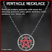 Pentacle Necklace with Sculpty Woven Pentacle (upright) and appearance menu
