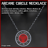 Arcane Circle Necklace with appearance menu