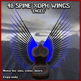 """Xoph Wings """"Engel"""" with appearance menu (48 spines / spikes in an angel wing pattern)"""