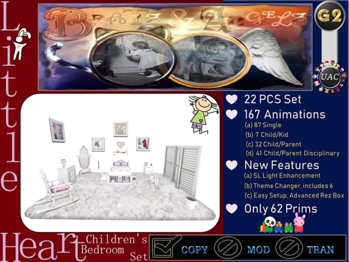 Second Life Marketplace Bratz Angelz Little Heart Children S Bedroom Set