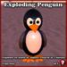 """EXPLODING Penguin """"Blasty"""" -- complete that christmas snow scene"""