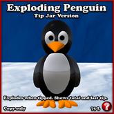 Exploding Penguin Tip Jar