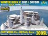 Winter ROCK C 2021: Small Rocky mountain + OFFSIM version, snow spruce pine trees