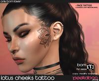 Peekaboo - Lotus Cheeks Tattoo Genus