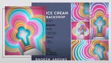 BROKEN ARROWS - Ice Cream Backdrop - Candy