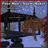 Basic Snow Maker (Free particle emitter)
