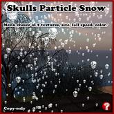 """Skull Particle """"Snow Shower"""" (skulls)"""