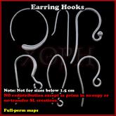 Sculpted Earring Hooks (Earing hook sculpt maps - sculpty)  for jewelry makers