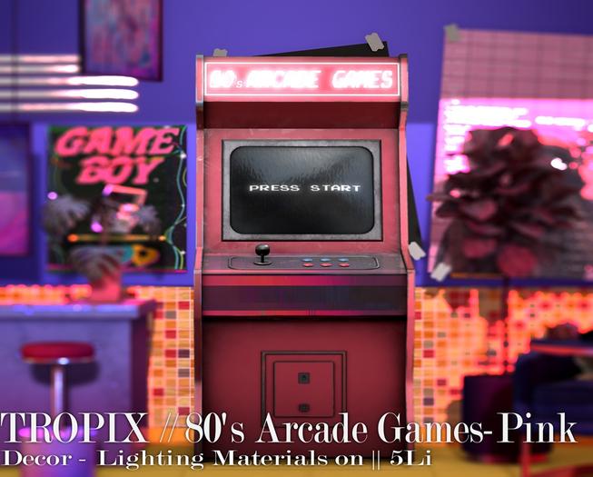 TROPIX // 80's Arcade Games Pink - BOX