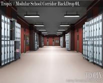 TROPIX // Modular School Corridor BackDrop 01 [BOX]