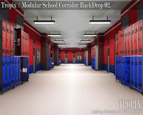 TROPIX // Modular School Corridor BackDrop 02 [BOX]