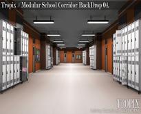 TROPIX // Modular School Corridor BackDrop 04 [BOX]
