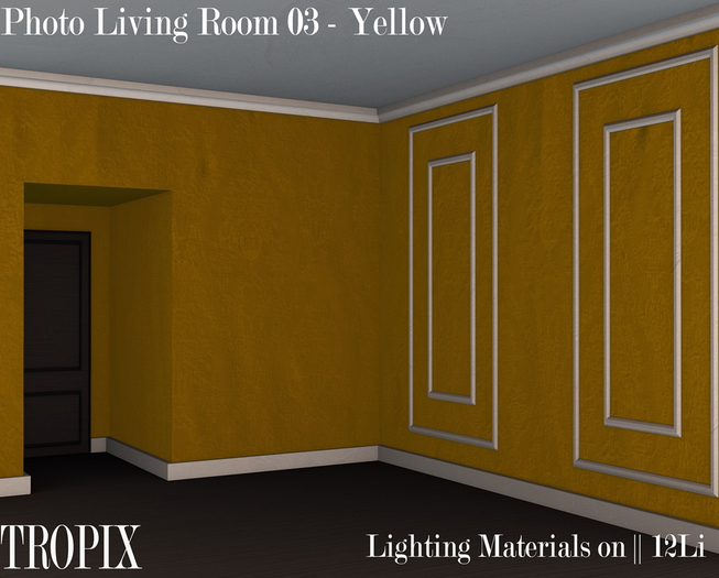 TROPIX // Photo Living Room 01 - Yellow [box]