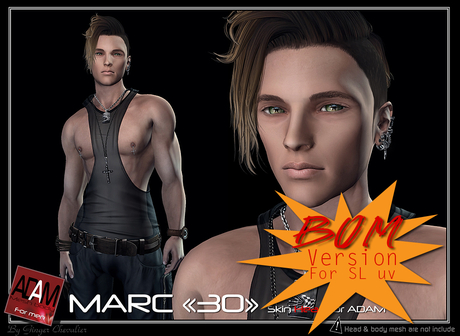 *!*Adam-skin head Marc 30 BOM