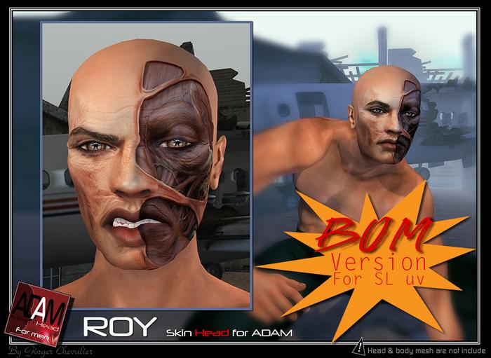 *!*Adam-Roy Skin head BOM -- wear to unpack