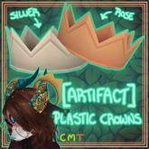 [ARTIFACT] Plastic Crowns SILVER/ROSE