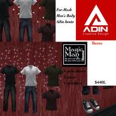 Adin Bento Men's Fatpac Jeans,Polos,Sneakrs, Box