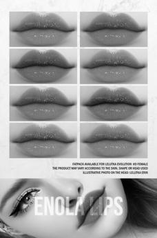 MORGENSTERN: DEMO ENOLA LIPS PACK 2 [LELUTKA EVO HD FEMALE]
