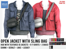 Millo Copperfield - Open Jacket with Sling bag + HUD (8 jackets + 9 T-shirts + 2 bags), Copy