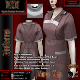 KDC Hired help uniform - striped red