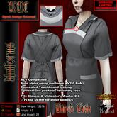 KDC Hired help uniform - striped black