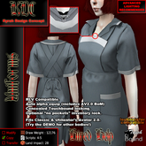 KDC Hired help uniform - striped teal