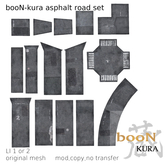 *booN-kura asphalt road set