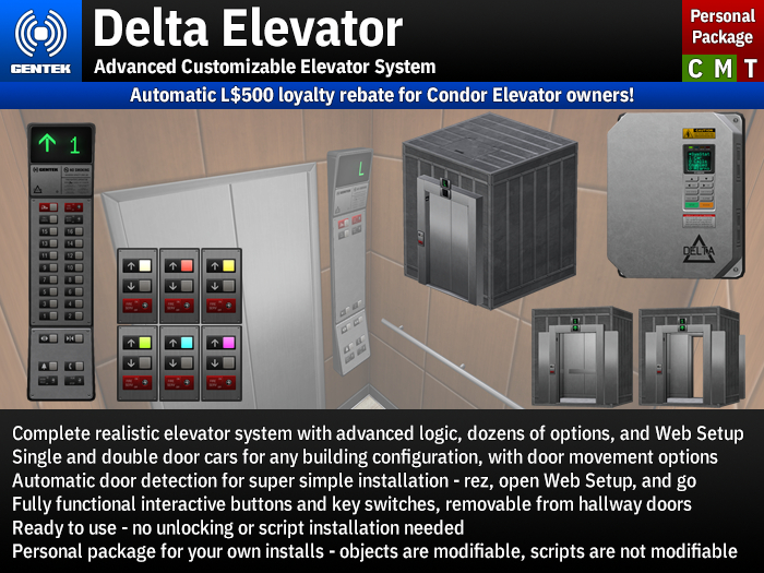 Delta Elevator - Advanced Customizable Elevator System (Personal)