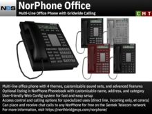 NBS NorPhone Office - Multi-Line Office Phone with Gridwide Calling