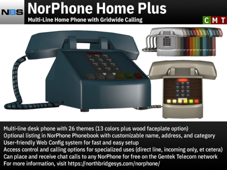 NBS NorPhone Home Plus - Multi-Line Home Phone with Gridwide Calling