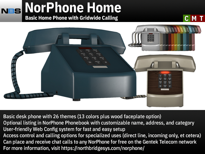 NBS NorPhone Home - Basic Home Phone with Gridwide Calling