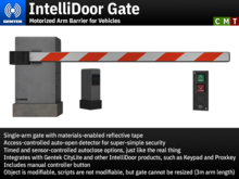 IntelliDoor Gate - Motorized Arm Barrier for Vehicles