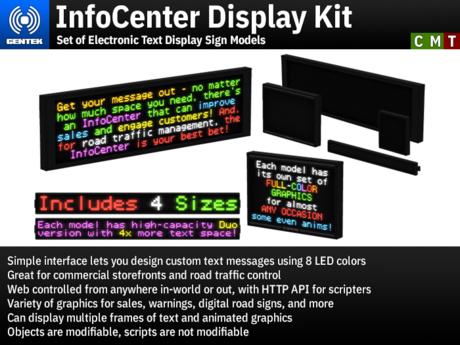 InfoCenter Display Kit - Four Electronic Text Display Sign Models