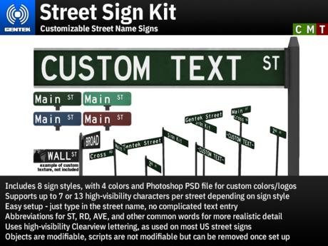 Street Sign Kit - Customizable Street Name Signs