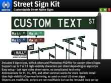 Street Sign Kit - Customizable Street Name Signs