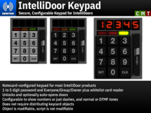 IntelliDoor Keypad - Secure, Configurable Keypad for IntelliDoors