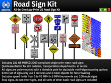 Road Sign Kit - All-In-One Low-Prim US Road Sign Kit