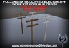 ~Full perm sculpted Electricity / Telephone pole kit + Maps! see a example in world.