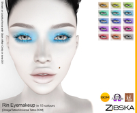 Zibska ~ Rin Eyemakeup in 15 colors with Omega appliers, tattoo and universal tattoo BOM layers