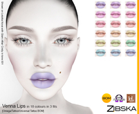 Lips in 18 colors in 3 fits with Omega applier, tattoo and universal tattoo BOM layers