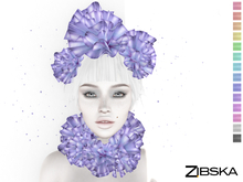 Zibska ~ Rin Color Change Ruffle Headpiece and Collar
