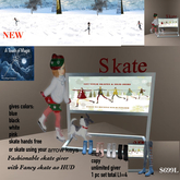 Mesh Fashioable skate giver with fancy HUD-Box