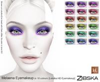 Zibska ~ Melaena Eyemakeup in 18 colors for Lelutka HD