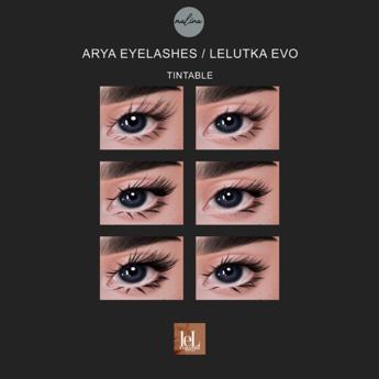 Malina - Arya eyelashes / Lelutka EVO / tintable