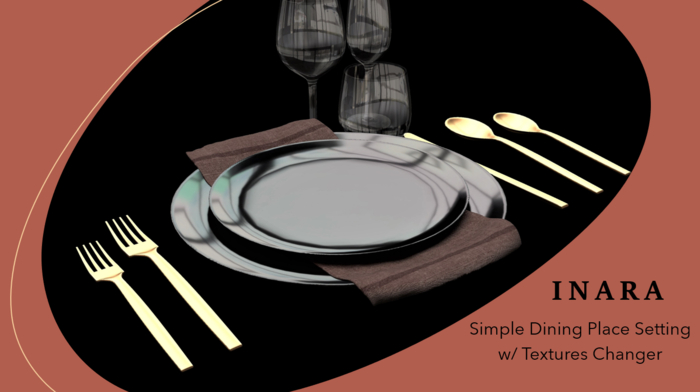 [ID] Dining Place Setting w/ Texture Changer - UPDATED