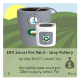 DFS Smart Pot Paint - Gray Pottery