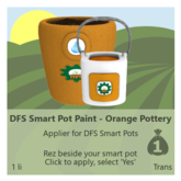 DFS Smart Pot Paint - Orange Pottery