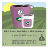 DFS Smart Pot Paint - Pink Pottery