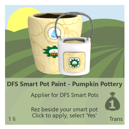 DFS Smart Pot Paint - Pumpkin Pottery